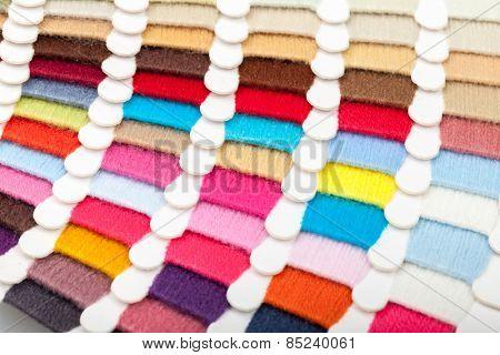 Yarn thread sample  swatches