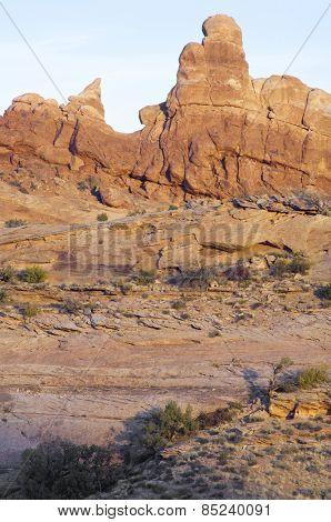 Rocky cliffs near Moab, Utah, Usa.