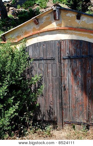Old Entrace With Wooden Door