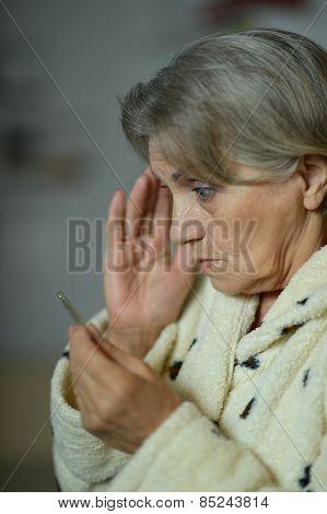 woman fell ill