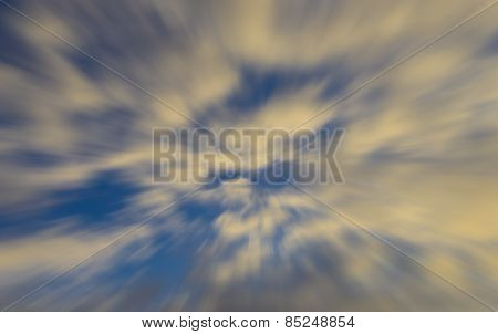Heavenly symbolic zoom blurred abstract of Clouds