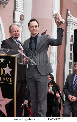 LOS ANGELES - MAR 11:  Tom LeBonge, Jim Parsons at the Jim Parsons Hollywood Walk of Fame Ceremony at the Hollywood Boulevard on March 11, 2015 in Los Angeles, CA