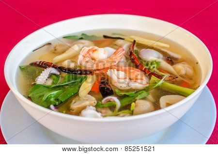 Hot And Sour Seafood Soup (tom Yam)