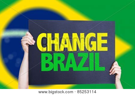 Change Brazil card with brazil flag
