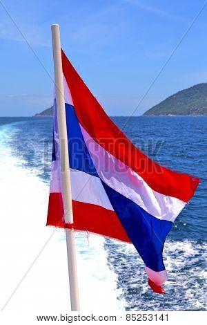Flag  Asia  Kho Samu Bay Isle    In Thailand