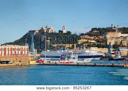 The Harbor Of Ancona With Ships Loaded