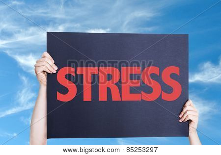 Stress card with sky background