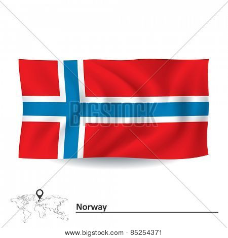 Flag of Norway - vector illustration