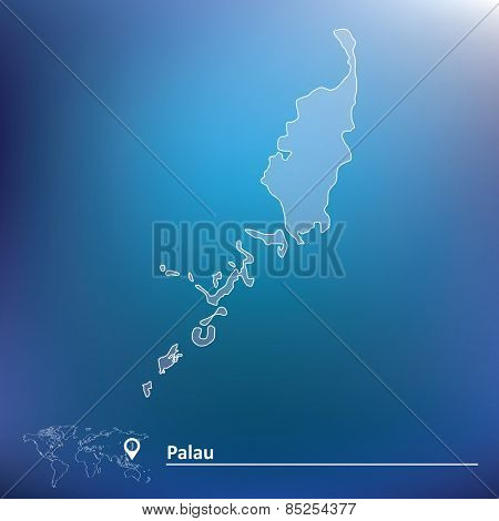 Map of Palau - vector illustration