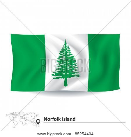 Flag of Norfolk Island - vector illustration