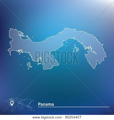 Map of Panama - vector illustration