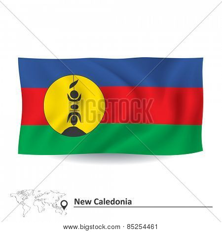 Flag of New Caledonia - vector illustration