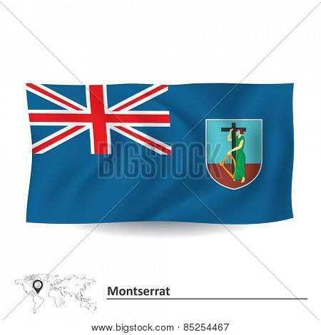 Flag of Montserrat - vector illustration
