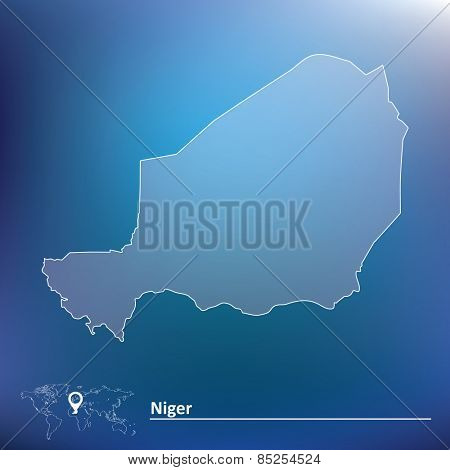 Map of Niger - vector illustration