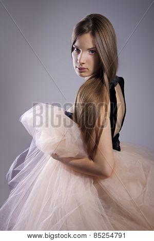 Beautiful dreamy girl posing