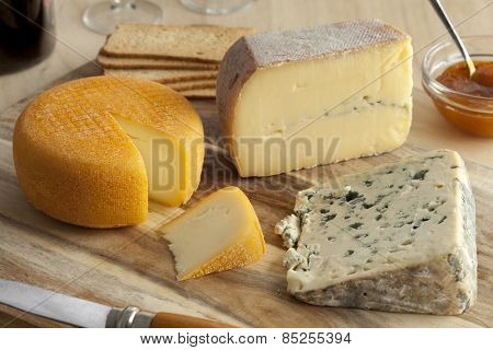 French cheese platter for dessert