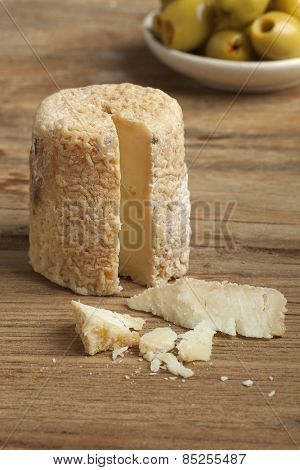 Traditional french goats cheese called chevre chabichou