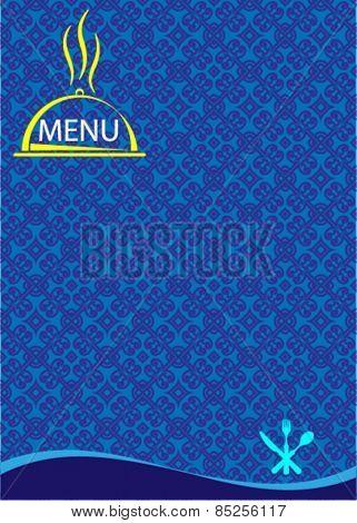 Menu Card Design Template Vector Art