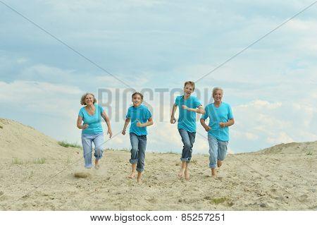 people on the sand
