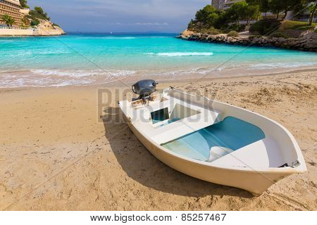 Mallorca Cala Vinyes Vinas beach in Calvia Mallorca at Balearic islands of spain