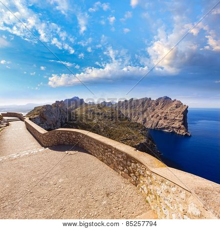 Majorca mirador Formentor Cape in Mallorca island of spain