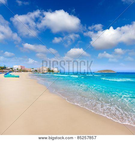 Mallorca Magaluf Magalluf beach in Calvia Mallorca at Balearic islands of Spain