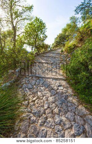 Majorca Puig de Maria Pollenca track Pollensa in Mallorca balearic island of spain