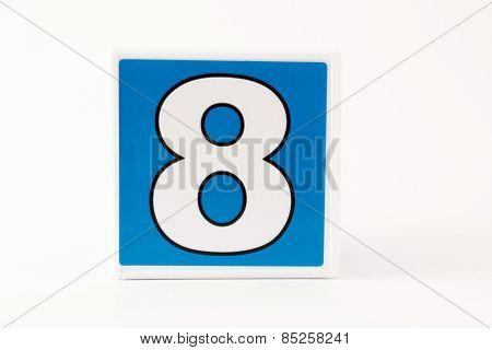 Number 8 Child's Building Block