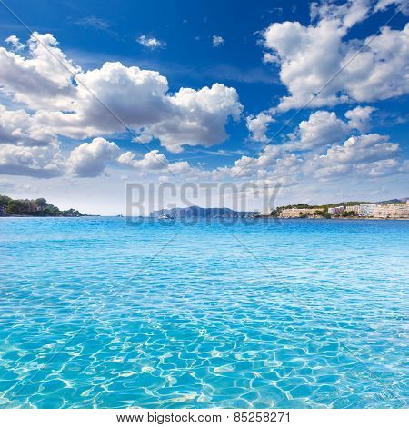Mallorca Cala Santa Ponsa Ponca beach in Calvia Majorca Balearic islands of Spain