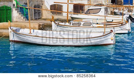 Majorca Porto Colom Felanitx port in mallorca Balearic island of Spain