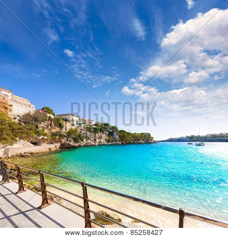 Majorca Porto Cristo beach in Manacor of Mallorca Balearic island at spain