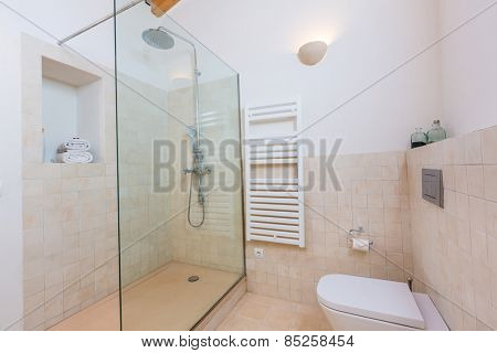 Majorca Balearic bathroom indoor house in Balearic islands Mediterranean architecture of Mallorca