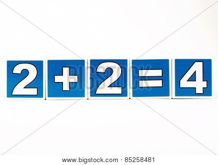 2 Plus 2 Equals 4 Child's Building Block