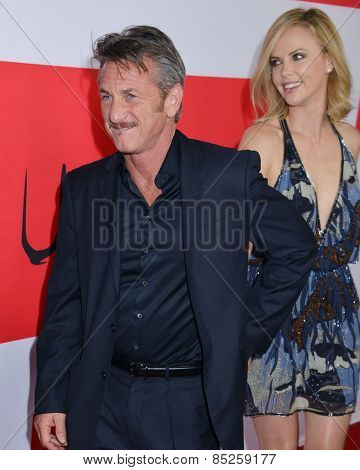 LOS ANGELES - MAR 12:  Sean Penn, Charlize Theron at the