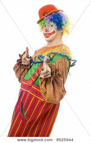 Portrait Of A Cheerful Clown