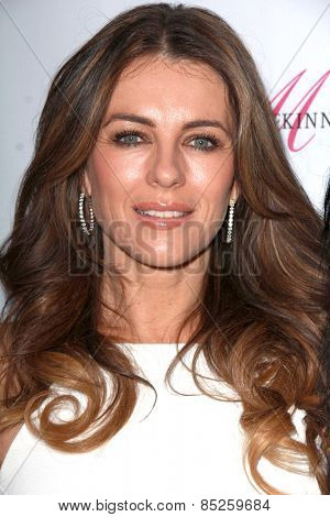 LOS ANGELES - MAR 12:  Elizabeth Hurley at the GENLUX Magazine 10th Anniversary Party at the Eve by Eve's on March 12, 2015 in Beverly Hills, CA