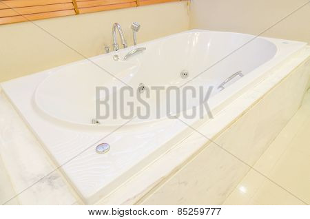 White Jacuzzi In Modern Bathroom