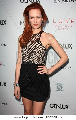 LOS ANGELES - MAR 12:  Breeda Wool at the GENLUX Magazine 10th Anniversary Party at the Eve by Eve's on March 12, 2015 in Beverly Hills, CA