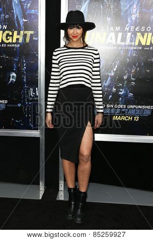 NEW YORK-MAR 9: Actress Jackie Cruz attends the premiere of