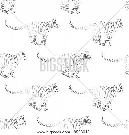 Tiger seamless pattern Vector Illustration