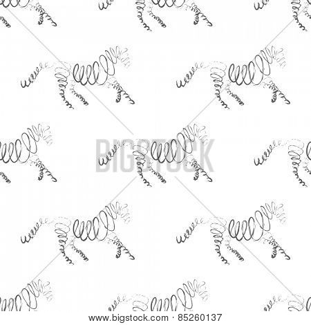 Horses seamless pattern Vector Illustration