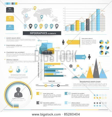 Collection of various infographics elements to fulfill your business and corporate needs.