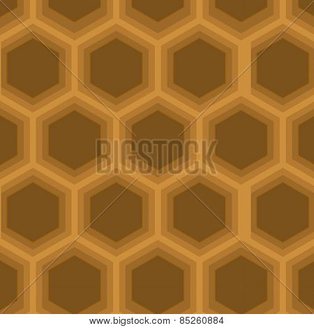 A hexagon shaped continuous vector pattern.