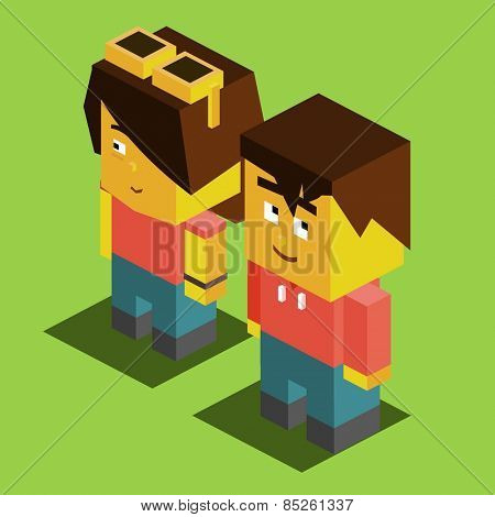 Couple Getting merried. vector illustration