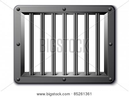 detailed illustration of a prison window, eps10 vector