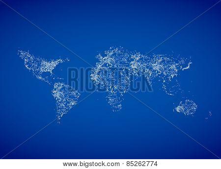 World night map Eps8, easy editable