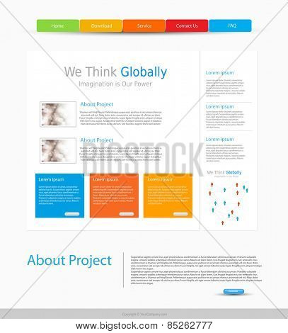 website design template, easy editable