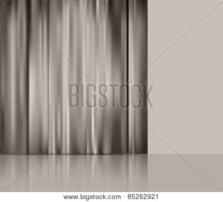 background with theatre  curtain