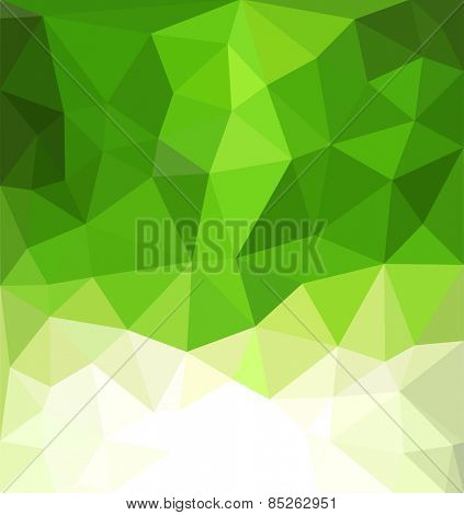 abstract green background with mosaic for business
