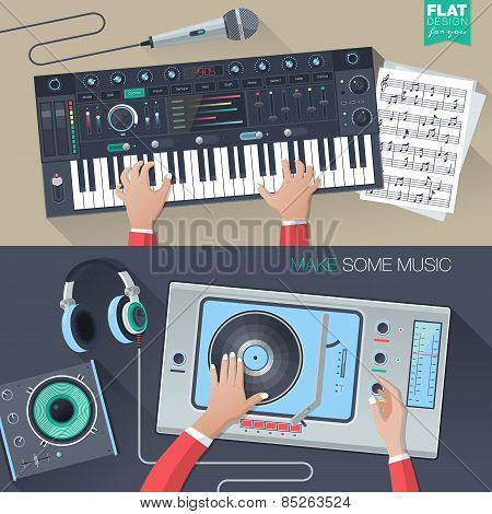 music illustration concept